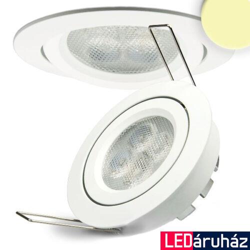 Süllyesztett LED lámpa, fehér, 8W, 420 lm, 2700K melegfehér, 72°, fényerőszabályozható