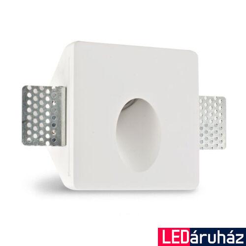 Fali gipsz süllyesztett festhető lábazati lámpatest  – ovális megvilágítás, 100×100 mm – GU4/MR11 LED fényforrásokhoz