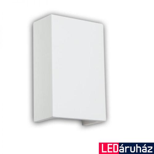 LED falra szerelhető gipsz lámpa, téglatest, indirekt világítás - 2x3W CREE melegfehér LED