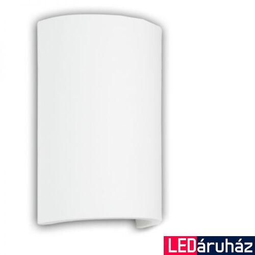 LED fali gipsz lámpa, íves, indirekt világítás - 2x3W CREE melegfehér LED