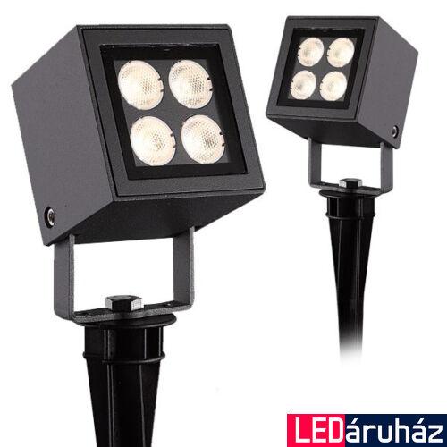 LED spot reflektor IP65 PowerCube - kültéri leszúrható, antracit, 4x2W CREE LED, 480 lm, 3000K melegfehér, 35°