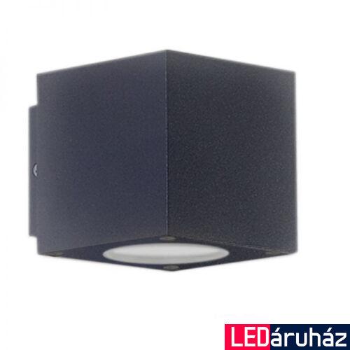 Kocka LED fali lámpa, antracit színű, 2 irányú – 2×3W CREE melegfehér LED
