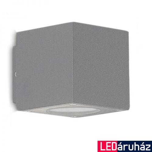 Kocka LED fali lámpa, ezüst színű, 2 irányú – 2×3W CREE melegfehér LED