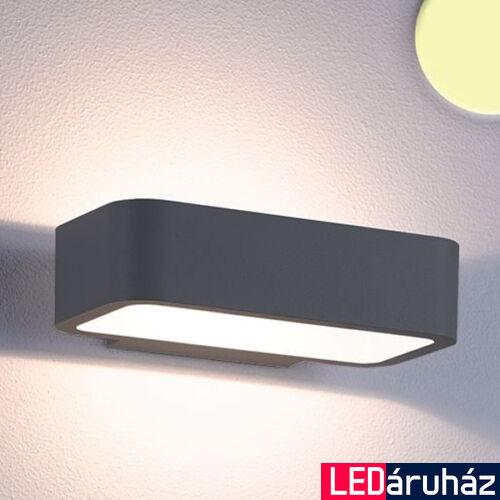 Falra szerelhető indirekt LED lámpa antracit szín – 1×6W CREE melegfehér LED