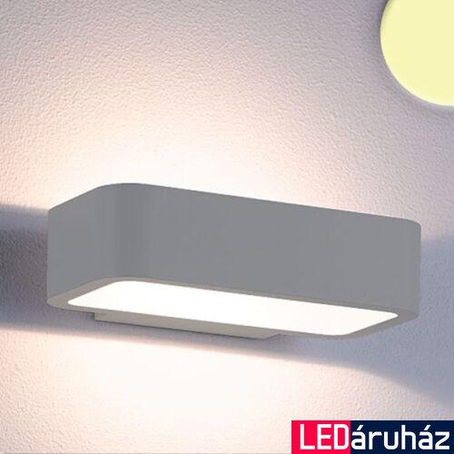 Falra szerelhető indirekt LED lámpa ezüst szín – 1×6W CREE melegfehér LED