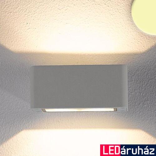 2 irányban világító LED fali lámpa ezüst színben – 4×3W CREE melegfehér LED