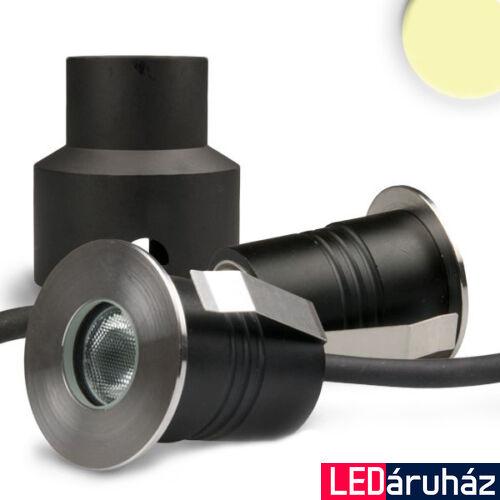 Talajba süllyesztett LED spotlámpa, kör, rozsdamentes acél, átmérő: 45 mm – 2W CREE melegfehér LED