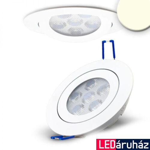 Süllyesztett LED spotlámpa, fehér, 15W, 850 lm, 4200K természetes fehér, 72°, fényerőszabályozható