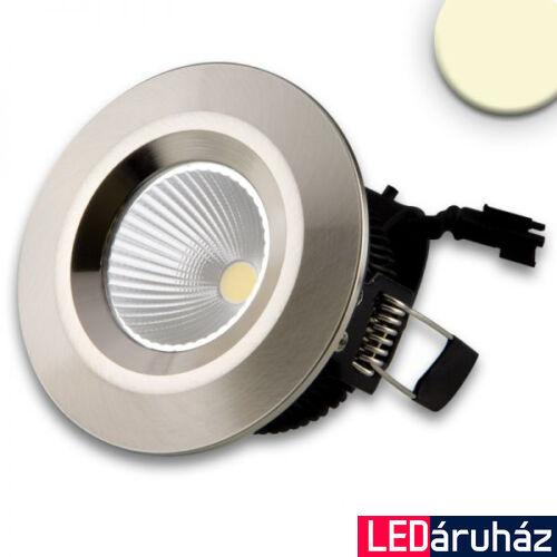Süllyesztett COB LED lámpatest, 8W, 630lm, 3000K melegfehér, 45°, IP54, CRI81, alumínium, fényerőszabályozható