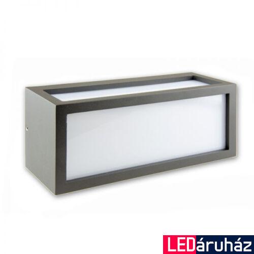 Kültéri falra szerelhető lámpa BOX-2 E27 foglalat, sötétszürke