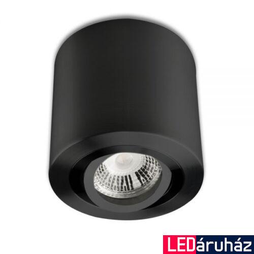 Mennyezeti szpot lámpatest GU10/MR16 LED fényforráshoz, kerek, fekete