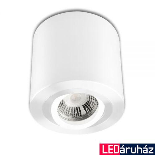 Mennyezeti szpot lámpatest GU10/MR16 LED fényforráshoz, kerek, fehér