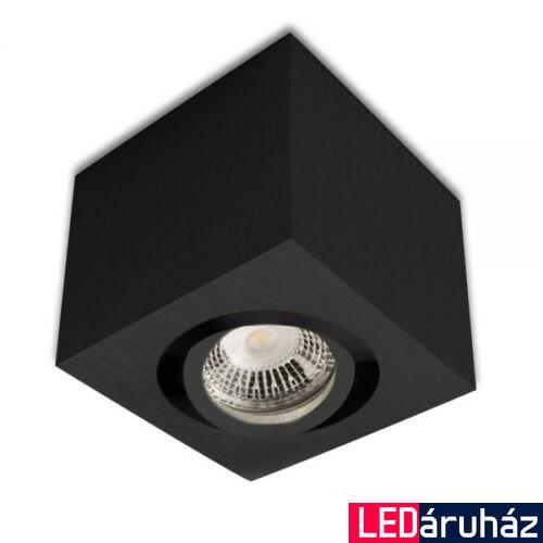 Mennyezeti szpot lámpatest GU10/MR16 LED fényforráshoz, szögletes, fekete
