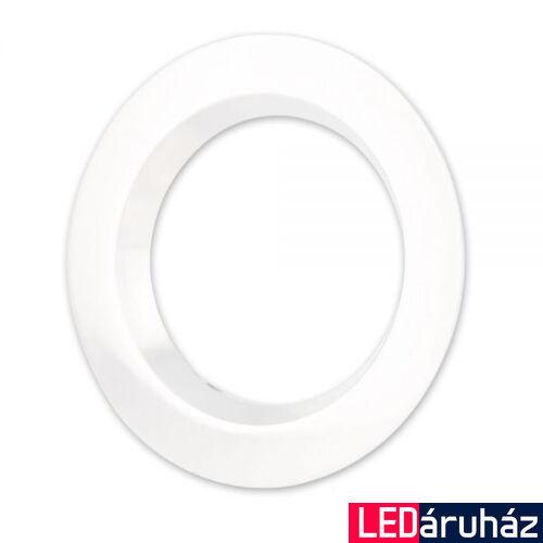 Fehér kör előlap peremmel DLSystem IP44 WhiteSwitch LED mélysugárzóhoz