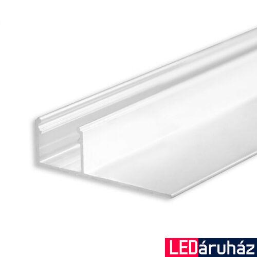 LED profil gipszkarton lezáráshoz, eloxált alumínium, 2m
