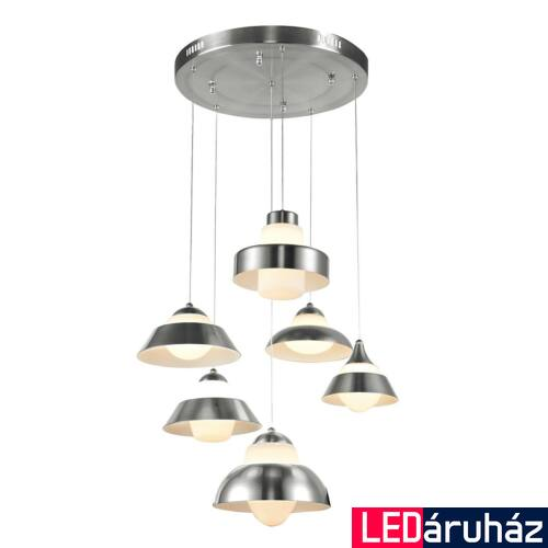 ITALUX ANTILIA több ágú függeszték króm, 3000K melegfehér, beépített LED, 2100 lm, IT-1902126-6P CH