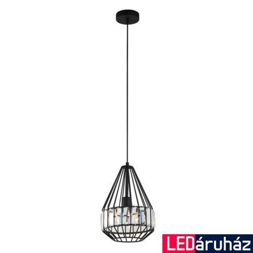 ITALUX BRENTA 1 ágú függeszték fekete, E27, IT-MDM-2721/1A BK