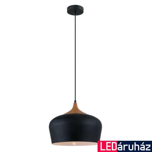ITALUX BRITTA 1 ágú függeszték fekete, E27, IT-MDM-2681/1L BK