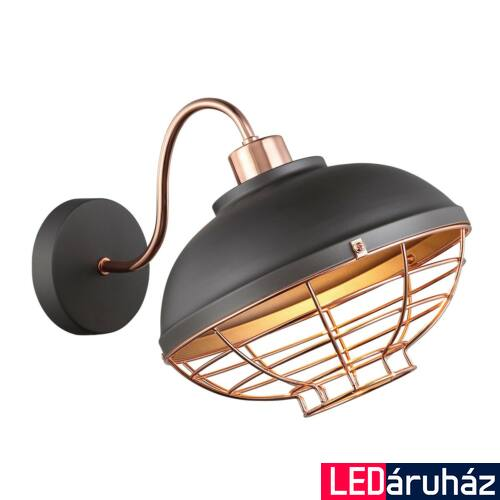 ITALUX CLAMS fali lámpa szürke, E27, IT-MBM-2941/1 GR+COP