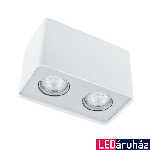 ITALUX HARRIS mennyezeti lámpa 2 foglalattal, fehér, 3000K melegfehér, GU10, 500 lm, IT-FH31432S-WH