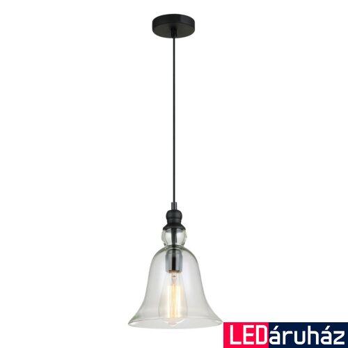 ITALUX IRENE 1 ágú függeszték fekete, E27, IT-MDM-2577/1