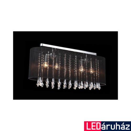 ITALUX ISLA mennyezeti lámpa 4 foglalattal, fekete, E14, IT-MXM1870-4 BL