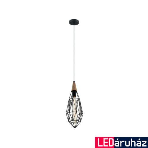 ITALUX MAELLE 1 ágú függeszték fekete, E27, IT-MDM-2595/1S BK