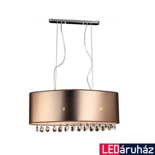 ITALUX MOTAN 1 ágú függeszték 4 foglalattal, bronz, E14, IT-MDM2047/4