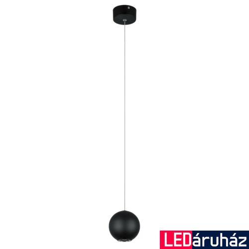 ITALUX NEUTRON 1 ágú függeszték fekete, 3000K melegfehér, beépített LED, 320 lm, IT-AD13012-1M BL