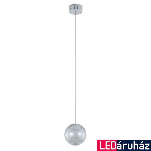 ITALUX NEUTRON 1 ágú függeszték króm, 3000K melegfehér, beépített LED, 320 lm, IT-AD13012-1L CH