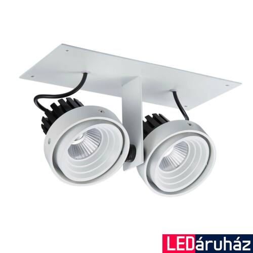 ITALUX PATRIZIO DOUBLE 4000K beépíthető lámpa fehér, 4000K természetes fehér, beépített LED, 1770 lm, IT-GL7118-2/2X12W 4000K WH+BL