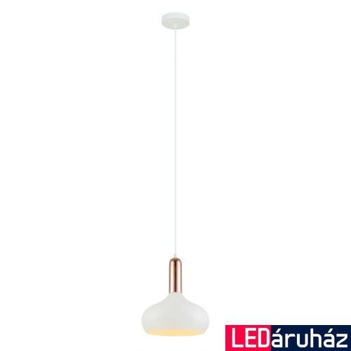 ITALUX QUESMO 1 ágú függeszték fehér, E27, IT-MDM-3029/1 W+COP