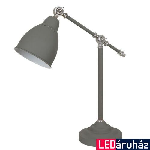 ITALUX SONNY asztali lámpa szürke, E27, IT-MT-HN2054-1-GR