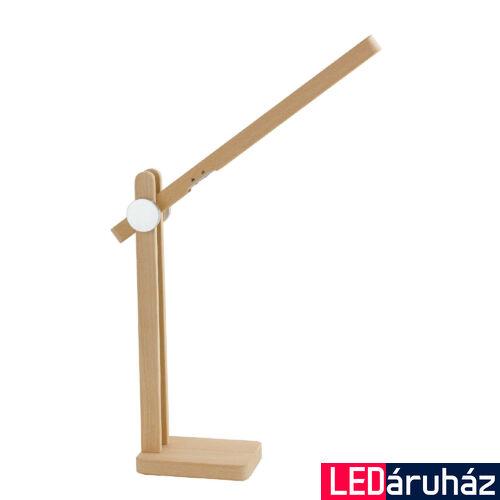 LUCE DESIGN HUME asztali lámpa, fa, 3000K-6000K változtatható, beépített LED, 120-240-360 lm, LEDT-HUME-LEGNO