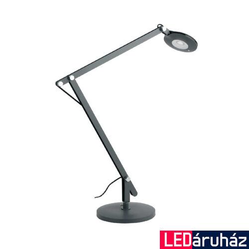 LUCE DESIGN LOCKE asztali lámpa, szürke, 4000K természetes fehér, beépített LED, 500 lm, LEDT-LOCKE-GREY