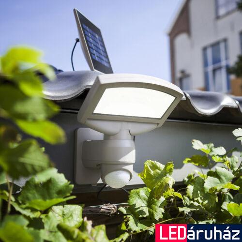 LUTEC Sunshine szolár kültéri fali lámpa, 3,2W, 360 lm, 4000K természetes fehér, IP44, mozgásérzékelővel, szürke, LUTEC-6901601000, 6901601000