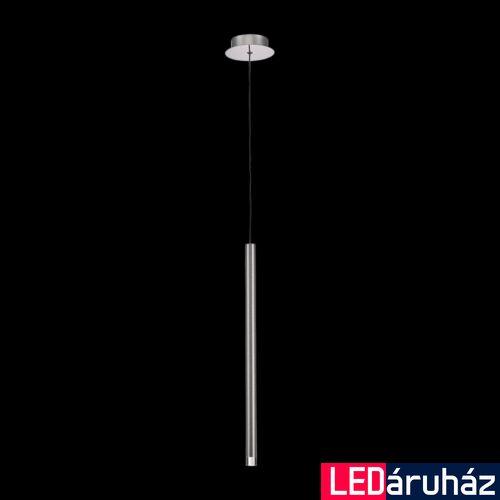 LUXERA LA VELA 1 ágú függeszték króm, 3000K melegfehér, beépített LED, 160 lm, 64406