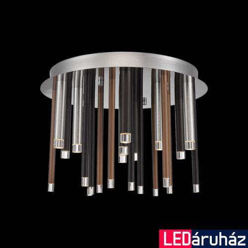 LUXERA LA VELA mennyezeti lámpa barna, 3000K melegfehér, beépített LED, 1350 lm, 64407