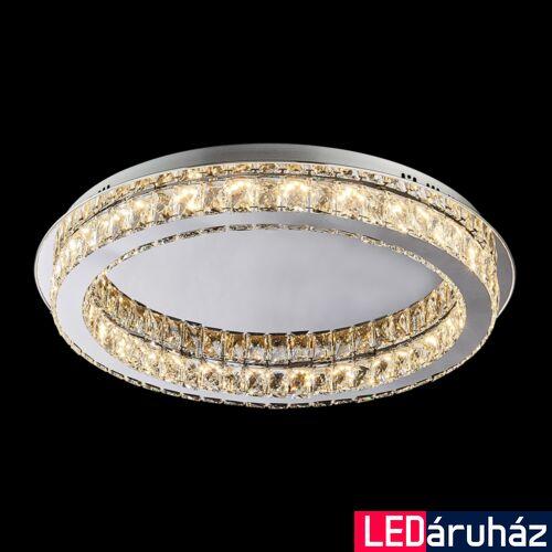 LUXERA MOVIDA LED mennyezeti lámpa króm, 3000K melegfehér, beépített LED, 3600 lm, 62401