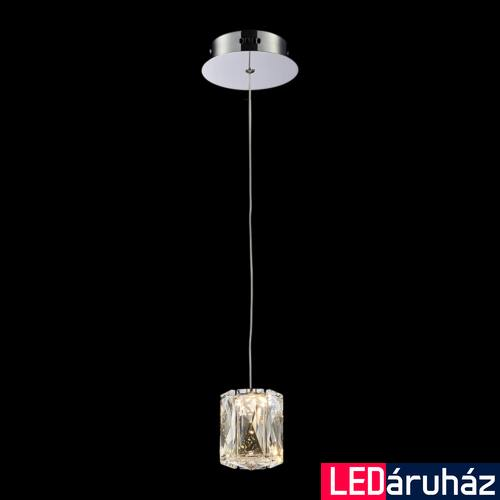 LUXERA POLAR LED 1 ágú függeszték króm, 3000K melegfehér, beépített LED, 400 lm, 62404
