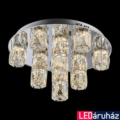 LUXERA POLAR LED mennyezeti lámpa króm, 3000K melegfehér, beépített LED, 3600 lm, 62405