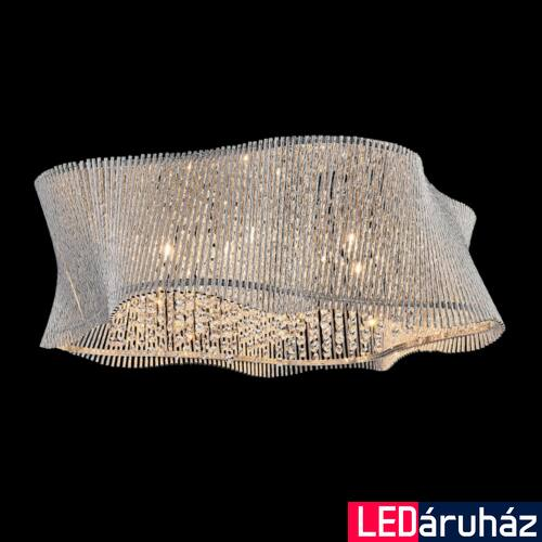 LUXERA ZONDA mennyezeti lámpa kristály effekttel 9 foglalattal, alumínium, G9, 46066