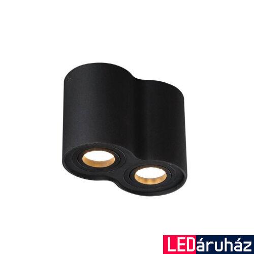 Maxlight BASIC ROUND II mennyezeti lámpa, fekete, 2 db GU10 foglalattal, 2x50W, MAXLIGHT-C0086