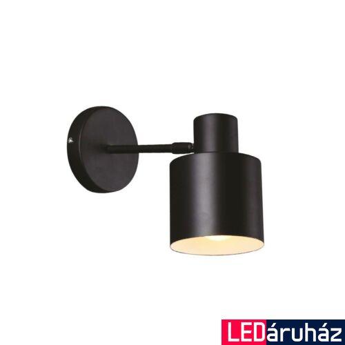 Maxlight BLACK fali lámpa, fekete, E27 foglalattal, 1x60W, MAXLIGHT-W0188