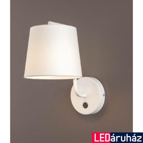 Maxlight CHICAGO fali lámpa, fehér, E27 foglalattal, 1x40W, MAXLIGHT-W0193