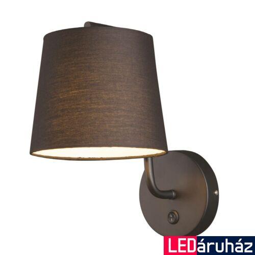 Maxlight CHICAGO fali lámpa, fekete, E27 foglalattal, 1x40W, MAXLIGHT-W0194