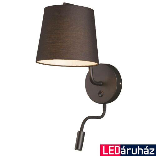 Maxlight CHICAGO fali lámpa, fekete, E27 foglalattal, 1x40W, MAXLIGHT-W0197