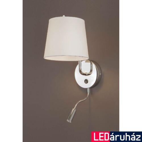 Maxlight CHICAGO fali lámpa, króm, E27 foglalattal, 1x40W, MAXLIGHT-W0198