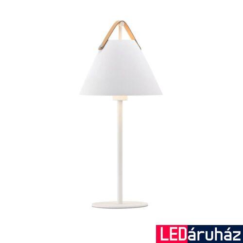 NORDLUX Strap asztali lámpa, fehér, E27, max 40W, 25cm átmérő, 46205001