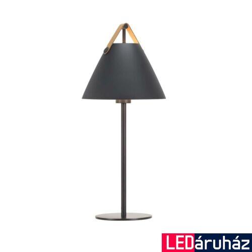 NORDLUX Strap asztali lámpa, fekete, E27, max 40W, 25cm átmérő, 46205003